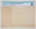 Explorers:Space Exploration, Navy: Neil Armstrong's Mailing Address in Corpus Christi Handwritten by His Mother, circa 1950, Directly from The Armstrong Fa...
