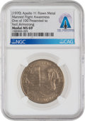 Explorers:Space Exploration, Apollo 11 Manned Flight Awareness Medal MS69 NGC, One of 100 Presented to Neil Armstrong, Directly from The Armstrong Family C...