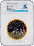 "Explorers:Space Exploration, Neil Armstrong's Personal ""First Lunar Landing 1969"" Merrowed Edge With Tail Patch From The Armstrong Family Collection™, CAG ..."