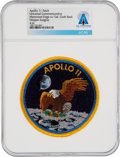 Explorers:Space Exploration, Apollo 11: Neil Armstrong's Personally-Owned Universal Commemorative Mission Insignia Patch Directly From The Armstrong Family...