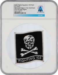 """U.S. Navy VFA-103 Strike Fighter Squadron """"Fighting 103"""" Patch Personally-Owned by Neil Armstrong From The Arm..."""