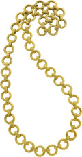 Estate Jewelry:Necklaces, Gold Necklace, Hammerman Bros. . ...