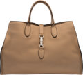 Luxury Accessories:Bags, Gucci Tan Leather Jackie Tote Bag Condition:...