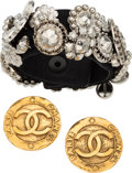 Luxury Accessories:Accessories, Chanel Set of Two: Earrings & Bracelet. Condition: 2. See Extended Condition Report for Sizes.... ... (Total: 2 Items)