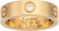 Luxury Accessories:Accessories, Cartier 18K Yellow Gold & Diamond Love Ring. Condition: 3. Size 6. ...
