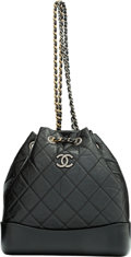 "Luxury Accessories:Bags, Chanel Black Aged Calfskin Leather Gabrielle Backpack with Mixed Hardware. Condition: 2. 9.5"" Width x 11"" Height x 4"" ..."