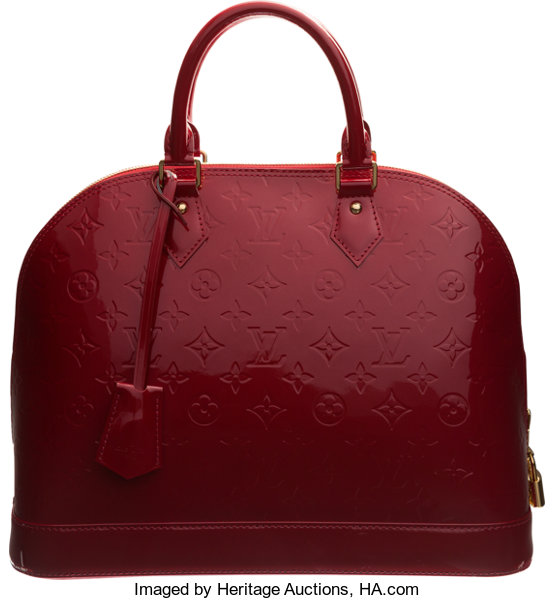 af486ca59652 Louis Vuitton Pomme d Amour Monogram Vernis Leather Alma MM Bag ...
