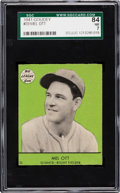 Baseball Cards:Singles (1940-1949), 1941 Goudey Mel Ott #33 SGC 84 NM 7 - Pop One, None Higher!...
