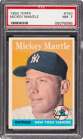 Baseball Cards:Singles (1950-1959), 1958 Topps Mickey Mantle #150 PSA NM 7....