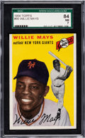 Baseball Cards:Singles (1950-1959), 1954 Topps Willie Mays #90 SGC 84 NM 7....