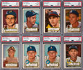 Baseball Cards:Lots, 1952 Topps Baseball High Numbers PSA-Qualified Collection (21)....