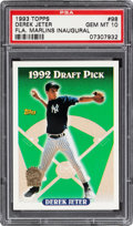 Baseball Cards:Singles (1970-Now), 1993 Topps Derek Jeter Florida Marlins Inaugural #98 PSA Gem Mint 10....