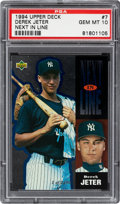 Baseball Cards:Singles (1970-Now), 1994 Upper Deck Derek Jeter Next in Line #7 PSA Gem Mint 10 - Limited to 2,500 Print Run....