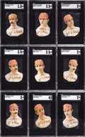 Baseball Cards:Sets, 1888 H.D. Smith & Co. (Y95) St. Louis Browns SGC-Graded Complete Team (9). ...