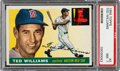 Baseball Cards:Singles (1950-1959), 1955 Topps Ted Williams #2 PSA NM 7....