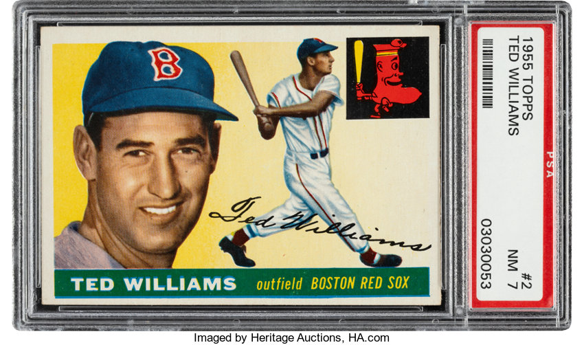 1955 Topps Ted Williams 2 Psa Nm 7