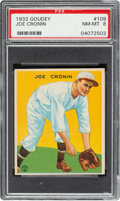 Baseball Cards:Singles (1930-1939), 1933 Goudey Joe Cronin #109 PSA NM-MT 8 - Only One Higher. ...