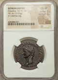 Ancients:Roman Imperial, Ancients: Claudius I (AD 41-54). AE as (30mm, 12.05 gm, 7h). NGCChoice VF 5/5 - 3/5....