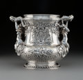 Silver & Vertu, A Continental Silver Wine Cooler after Juste-Aurèle Meissonnier early 20th century. Marks: STERLING, (initials effaced)...
