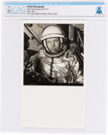 Explorers:Space Exploration, X-15: Original Glossy B&W Photograph of Neil Armstrong in the Cockpit of an X-15 April, 1962, Directly From The Armstrong Fami...