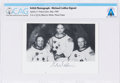 Explorers:Space Exploration, Apollo 11: Original NASA White Spacesuit Crew B&W Photograph Signed by Michael Collins Directly From The Armstrong Family Coll...
