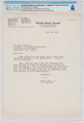 Explorers:Space Exploration, Robert Taft, Jr. 1976-Dated Typed Letter Signed to Neil Armstrong Thanking Him For Input Into the National Institute for Healt...