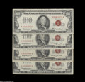 Small Size:Legal Tender Notes, A Group of Four $100 Legal Tender Red Seals... (4 notes)