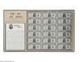 Small Size:Silver Certificates, Fr. 1655 $5 1953 Silver Certificates. Uncut Sheet of 18. Choice Crisp Uncirculated....