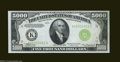 Small Size:Federal Reserve Notes, Fr. 2221-K $5,000 1934 Federal Reserve Note. Very Choice CrispUncirculated....