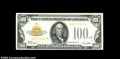 Small Size:Gold Certificates, Fr. 2405 $100 1928 Gold Certificate. About Uncirculated.