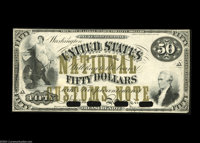 Type of Fr. 192 $50 National Customs Note Hessler 211/1499k Choice New. A face proof impression on bank note paper of a...
