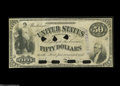 Large Size:Demand Notes, Fr. 198 $50 1863 Interest Bearing Note Hessler IE16 Choice New....