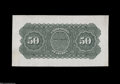 Large Size:Demand Notes, Fr. 198 $50 1861-63 Interest Bearing Note Proof Back ImpressionChoice New....