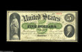 Large Size:Demand Notes, Fr. 3 $5 1861 Demand Note Very Fine....