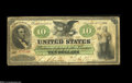 Large Size:Demand Notes, Fr. 6 $10 1861 Demand Note About Fine....