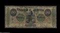 Large Size:Demand Notes, Fr. 11 $20 1861 Demand Note Fine....