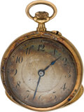 Explorers:Space Exploration, Jewelry: Armstrong Family 1906-Dated 18K Gold Swiss Medaille D'or Milan Pocket Watch Directly From The Armstrong Family Co...