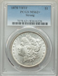 Morgan Dollars, 1878 7/8TF $1 Strong MS62+ PCGS. PCGS Population: (1744/5457 and 9/126+). NGC Census: (1185/3145 and 7/55+). CDN: $185 Whsl...