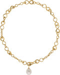 Estate Jewelry:Necklaces, South Sea Cultured Pearl, Gold Necklace, Utopia. ...