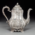 Silver & Vertu:Hollowware, A Ball, Black & Company Coin Silver Coffee Pot, New York, 1851-1876. Marks: BALL, BLACK & CO., SUCCESSORS TO MARQUAND & CO...