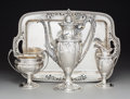 Silver & Vertu, A Four Piece Cowell & Hubbard Co. Partial Gilt Silver Coffee Set including Tray, Cleveland, Ohio, circa 1920. Marks: THE C... (Total: 4 Items)