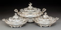 Silver & Vertu:Hollowware, Three Piece Set of Gorham Mfg. Company Silver Covered Serving Dishes, Providence, Rhode Island, 1911. Marks: (anchor-lion-G)... (Total: 3 Items)