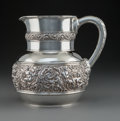 Silver & Vertu:Hollowware, A Tiffany & Co. Olympian Pattern Silver Water Pitcher, New York, circa 1880. Marks: TIFFANY & CO, 4706 MAKERS ...