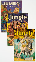 Golden Age (1938-1955):Adventure, Golden Age Jungle Adventure Comics Group of 6 (Various Publishers, 1950s) Condition: Average VG/FN.... (Total: 6 Comic Books)
