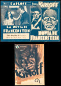 """Movie Posters:Horror, The Bride of Frankenstein & Other Lot (Universal, 1935).Overall: Fine+. Uruguayan Herald & Spanish Herald (Folded:4.25"""" X ... (Total: 2 Items)"""