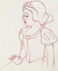 Animation Art:Production Drawing, Snow White and the Seven Dwarfs (Blanche-Neige et les Sept Nains) Dessin d'animation de Blanche-Neige (Walt Disney, 19...