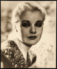 "Joan Marsh (1930s). Very Fine-. Autographed Portrait Photo (10.25"" X 12.25). Miscellaneous"