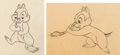 Animation Art:Production Drawing, Out of Scale Chip Animation Drawings Sequence of 2 (Walt Disney, 1951). ... (Total: 2 Original Art)