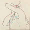 Animation Art:Production Drawing, Fantasia Chernabog Animation Drawing (Walt Disney, 1940)....