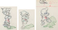 Animation Art:Production Drawing, Pinocchio Animation Drawings Sequence of 3 (Walt Disney, 1940). ... (Total: 3 Original Art)